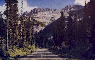 Garden Wall - Glacier National Park, Washington WA Postcard