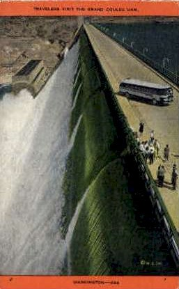 The Grand Coulee Dam - Misc, Washington WA Postcard