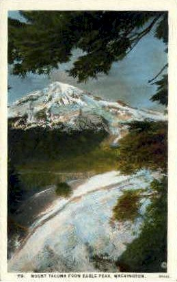 Mount Tacoma, Eagle Peak - Misc, Washington WA Postcard