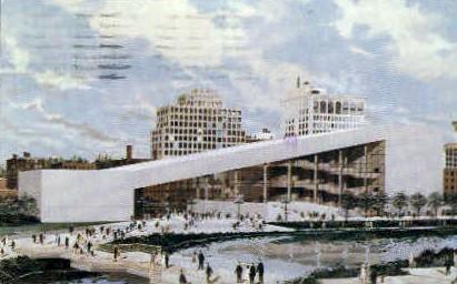 Washington Site Pavilion - Spokane Postcard