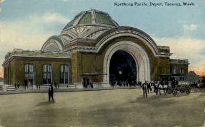 Northern Pacific Depot - Tacoma, Washington WA Postcard