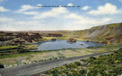 Lower Grand Coulee - Misc, Washington WA Postcard