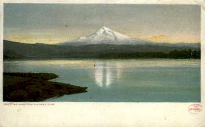 Mt. Hood from Columbia River - Misc, Washington WA Postcard