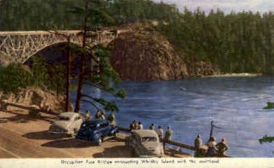 Deception Pass Bridge - Misc, Washington WA Postcard