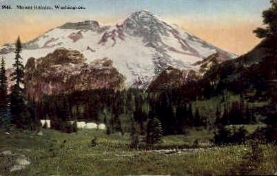 Mount Rainier - Mt Rainier, Washington WA Postcard