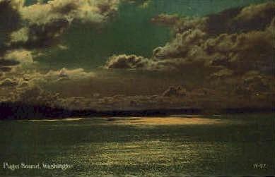 Puget Sound, Washington Postcard