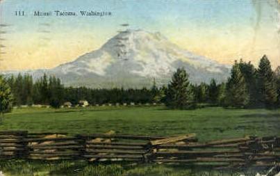 Mount Tacoma   - Mt Tacoma, Washington WA Postcard