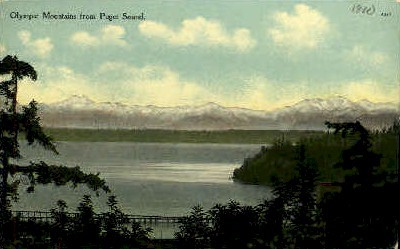 Olympic Mountains  - Misc, Washington WA Postcard