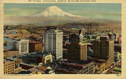 Gateway to Rainier National Park - Tacoma, Washington WA Postcard