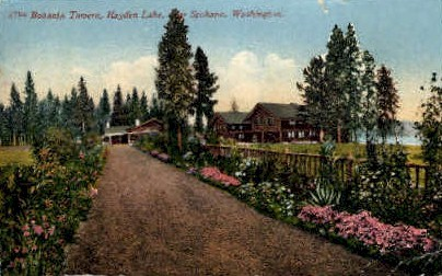 Bozanta Tavern, Hayden Lake - Spokane, Washington WA Postcard