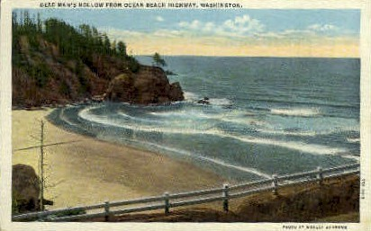 Dead Mans hollow - Misc, Washington WA Postcard