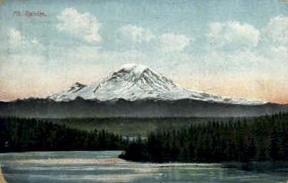 Mt Rainier   - Washington WA Postcard