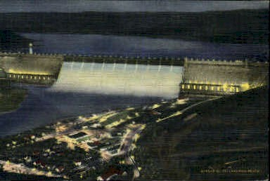 Grand Coulee Dam - Misc, Washington WA Postcard