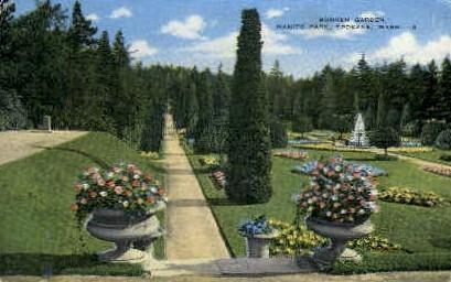 Sunken Garden, Manito Park - Spokane, Washington WA Postcard