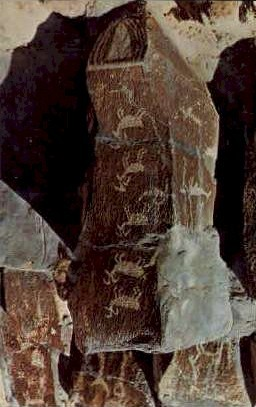 Ancient Picture Writings - Vantage, Washington WA Postcard
