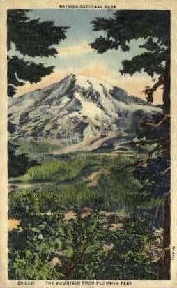 The Mountain from Plummer Peak - Rainier National Park, Washington WA Postcard