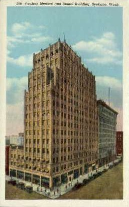 Paulsen Medical and Dental Building - Spokane, Washington WA Postcard