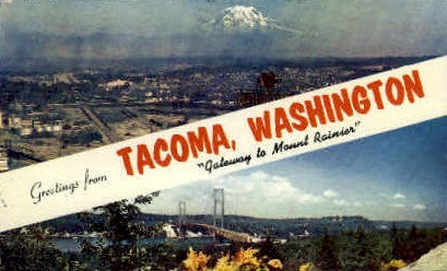 Greetings - Tacoma, Washington WA Postcard