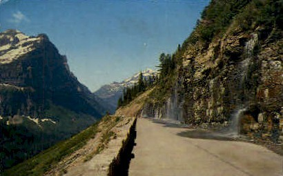 Weeping Wall - Glacier National Park, Washington WA Postcard