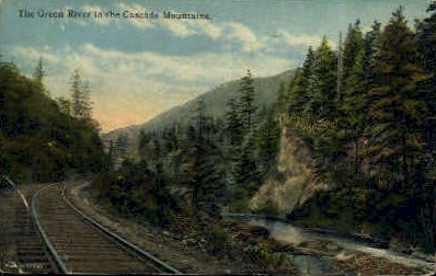 Cascade Mountains - Misc, Washington WA Postcard