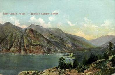Spokane Summer Resort - Lake Chelan, Washington WA Postcard