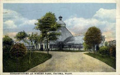 Conservatory at Wright Park - Tacoma, Washington WA Postcard