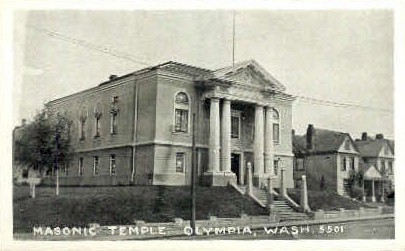 Masonic Temple - Olympia, Washington WA Postcard