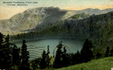 Crater Lake - Misc, Washington WA Postcard