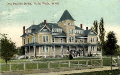 Odd Fellows Home - Walla Walla, Washington WA Postcard