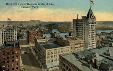 Business Center of City - Tacoma, Washington WA Postcard