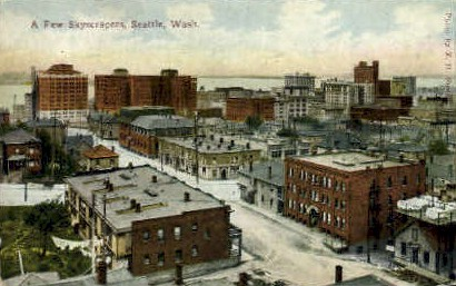 A Few Skyscrapers - Seattle, Washington WA Postcard