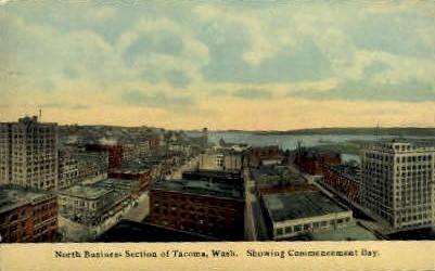 North Business Section - Tacoma, Washington WA Postcard