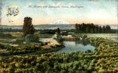 Mt. Adams and Sunnyside Canal - Misc, Washington WA Postcard