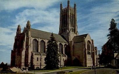 The Cathedral of St. John - Spokane, Washington WA Postcard