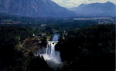 Snoqualmie Falls and Valley - Misc, Washington WA Postcard