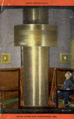 Giant Turbine Shaft - Misc, Washington WA Postcard