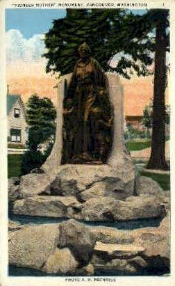 Pioneer Mother - Vancouver, Washington WA Postcard