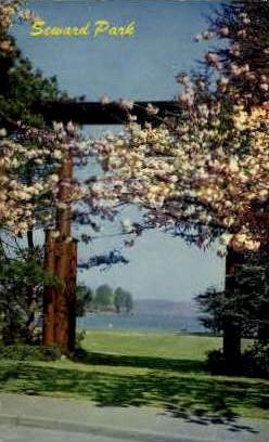 The Gate of Japanese Design - Seward Park, Washington WA Postcard