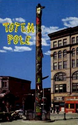 Totem Pole - Misc, Washington WA Postcard