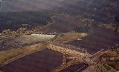 Bonneville Dam - Misc, Washington WA Postcard