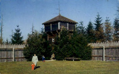 Bastion, Fort Nisqually - Tacoma, Washington WA Postcard