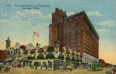 Davenport Hotel and Restaurant - Spokane, Washington WA Postcard