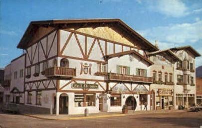 Bavarian Village - Leavenworth, Washington WA Postcard