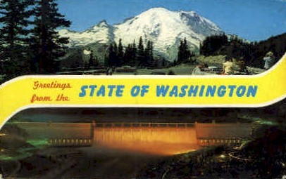 Greetings - Misc, Washington WA Postcard