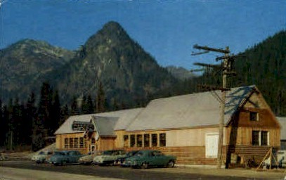 Summit Inn - Snoqualmie Pass, Washington WA Postcard