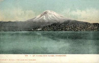 Mt. Tacoma - Washington WA Postcard