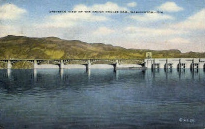 View of Grand Coulee Dam - Misc, Washington WA Postcard