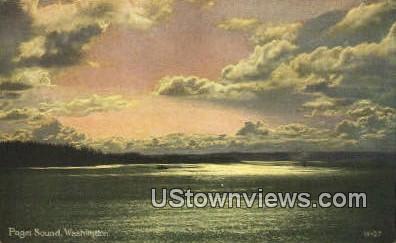 Puget Sound, Washington,     ;     Puget Sound, Wash Postcard