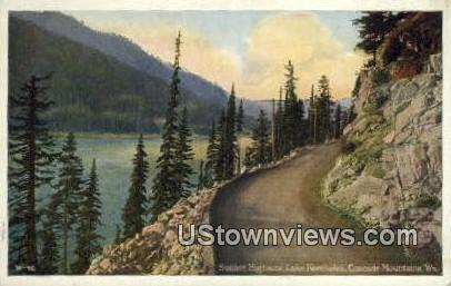 Sunset Highway, Lake Keechelus - Cascade Mountains, Washington WA Postcard