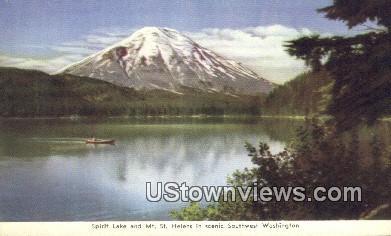 Mt St. Helens - Spirit Lake, Washington WA Postcard